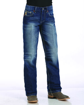 Cinch Boys' Indigo Sawyer Loose Fit Jeans - Straight Leg , Indigo, hi-res