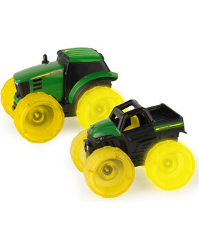 John Deere Monster Treads Lightning Wheels Toy Tractor, No Color, hi-res