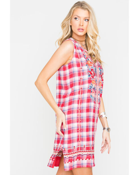 Johnny Was Women's Red Nadia Peasant Tank Dress , Red, hi-res