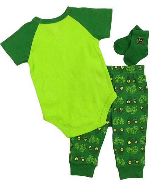 John Deere Infant Boys' Tractor Onesie Set, Green, hi-res