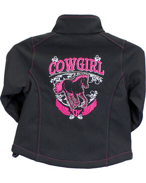 Cowgirl Hardware Toddler Girls' Cowgirl Horse Jacket, Black, hi-res