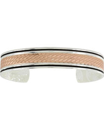 Montana Silversmiths Women's Rose Gold Whipped Stitch Cuff Bracelet , , hi-res