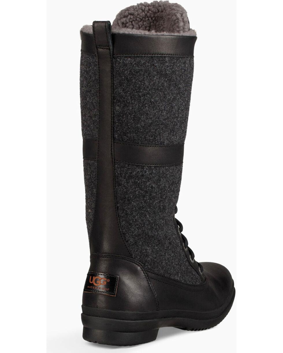 UGG Women's Black Elvia Boots - Round Toe , Black, hi-res