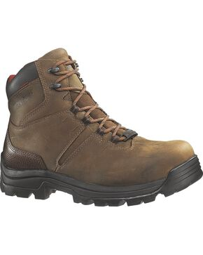 Wolverine Men's Bonaventure Steel Toe Waterproof Work Boots, Brown, hi-res