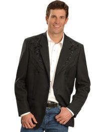 Scully Men's Retro Floral Embroidered Sport Coat, , hi-res
