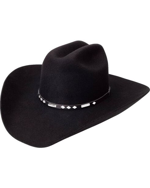 Silverado Fancy Black Wool Felt Cowboy Hat, Black, hi-res