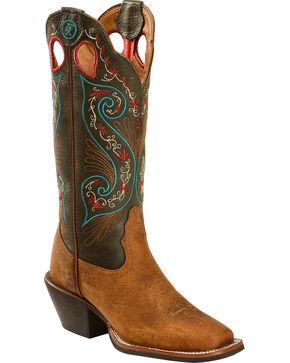 Tony Lama Women's Western Boots, Pecan, hi-res