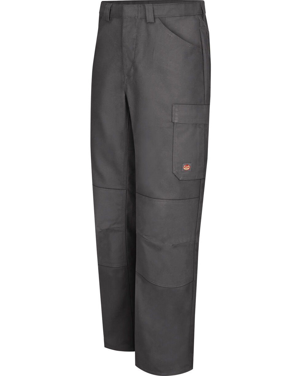 Red Kap Men's Charcoal Grey Performance Shop Pants , Charcoal Grey, hi-res