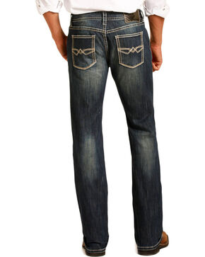 Rock & Roll Cowboy Men's Pistol Straight Leg Jeans, Blue, hi-res
