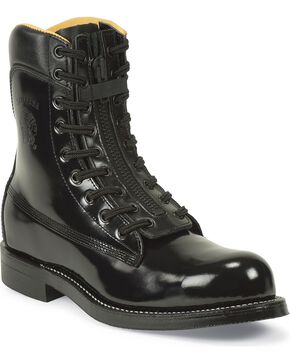 Chippewa Men's Melo-Veal Work Boots, Black, hi-res