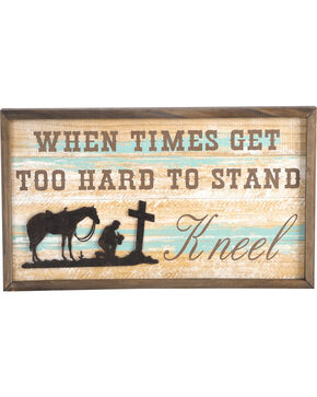 BB Ranch Kneeling Cowboy Wall Art, No Color, hi-res