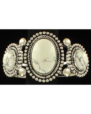 M & F Western Women's Stone Stretch Bracelet, Silver, hi-res