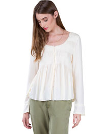 Black Swan Women's Lucie White Peasant Top , , hi-res
