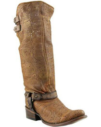 Corral Women's Slouch Harness & Top Strap Cowgirl Boots - Medium Toe , , hi-res
