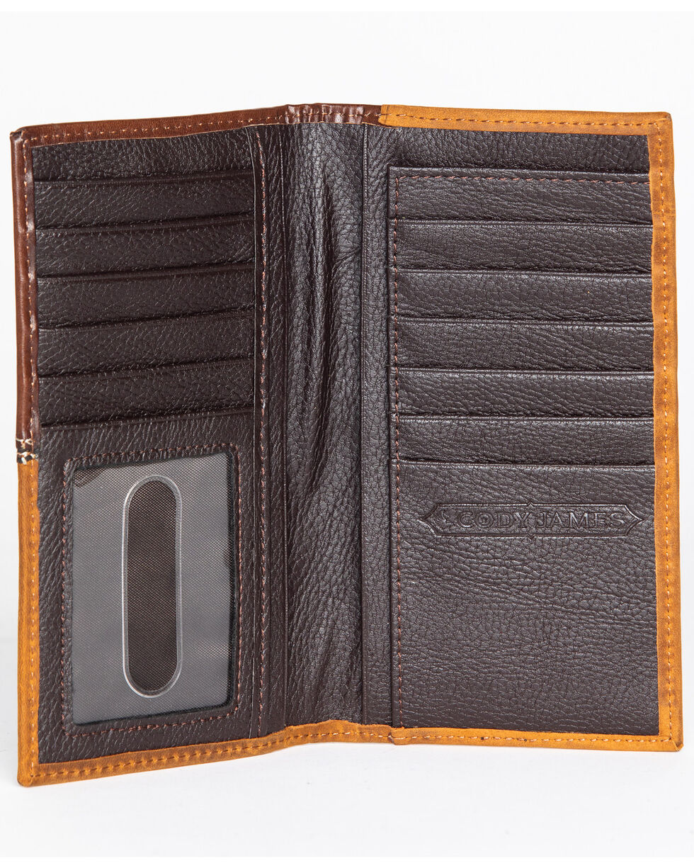 Cody James® Men's Cross Concho Checkbook Cover/Rodeo Wallet, Brown, hi-res