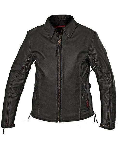 Milwaukee Women's Classic Style Motorcycle Jacket, Black, hi-res