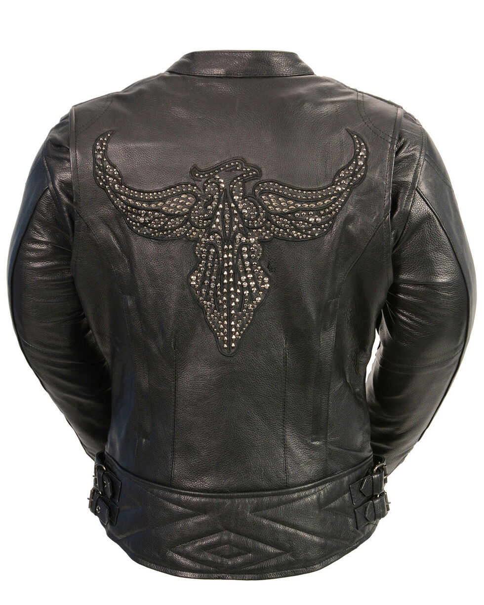 Milwaukee Leather Women's Concealed Carry Embroidered Phoenix Jacket - 3X, , hi-res