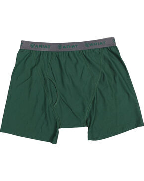Ariat Men's UnderTEK Boxer Briefs, Hunter Green, hi-res