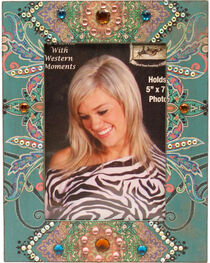 M&F Wooden Paisley Print Picture Frame, , hi-res