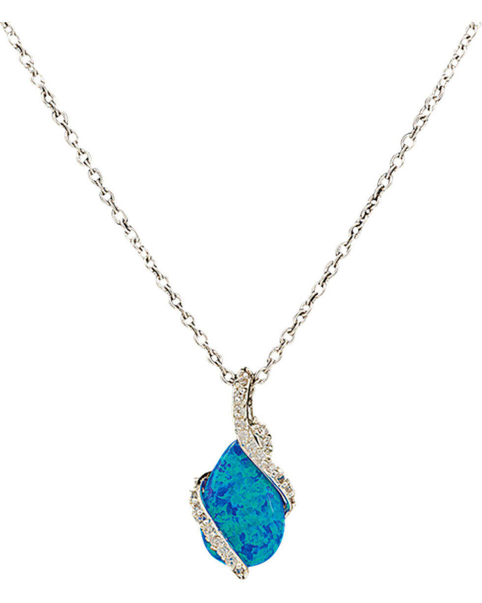 Montana Silversmiths River Lights Twin Paths Necklace, Silver, hi-res