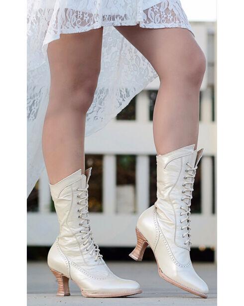 Oak Tree Farms Ivory Jasmine Pearl Boots - Medium Toe, Ivory, hi-res