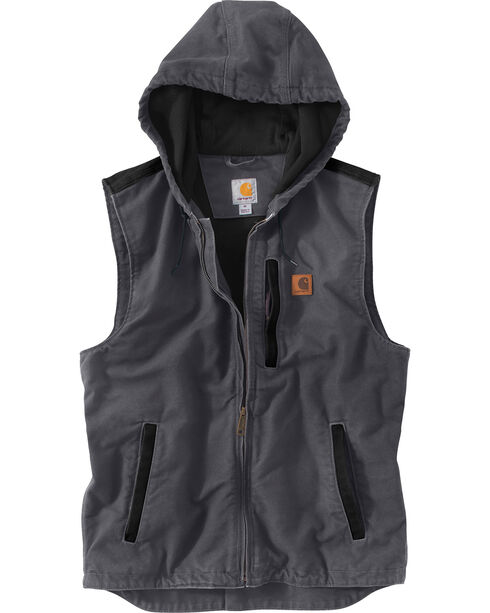 Carhartt Men's Dark Grey Knoxville Vest - Big and Tall, Dark Grey, hi-res