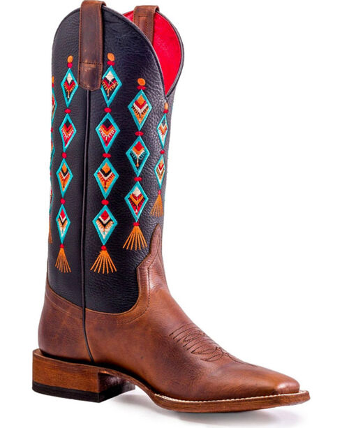 Macie Bean Women's Where The Black Top Ends Boots - Square Toe , Brown, hi-res