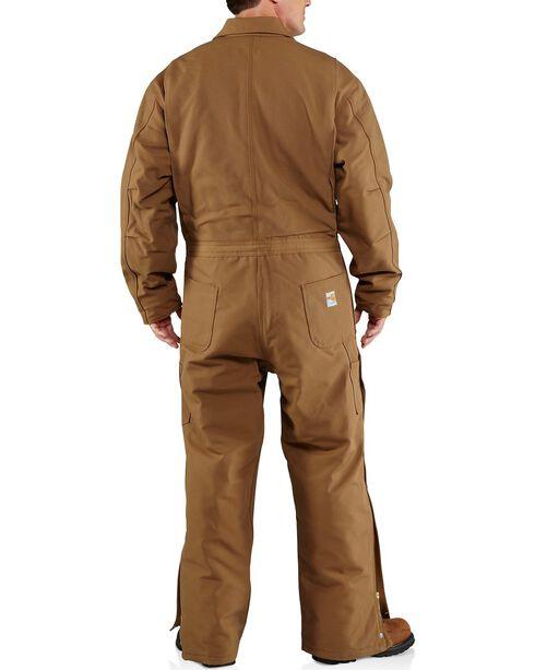 Carhartt Men's Flame Resistant Quilt Lined Coveralls, Carhartt Brown, hi-res