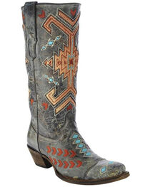 Corral Women's Multi-Color Jute Inlay Western Boots, , hi-res