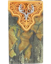 Nocona Men's Mossy Oak Rodeo Buck Skull Wallet, , hi-res