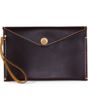 SouthLife Supply Women's Paxton Plum Envelope Clutch, Dark Brown, hi-res