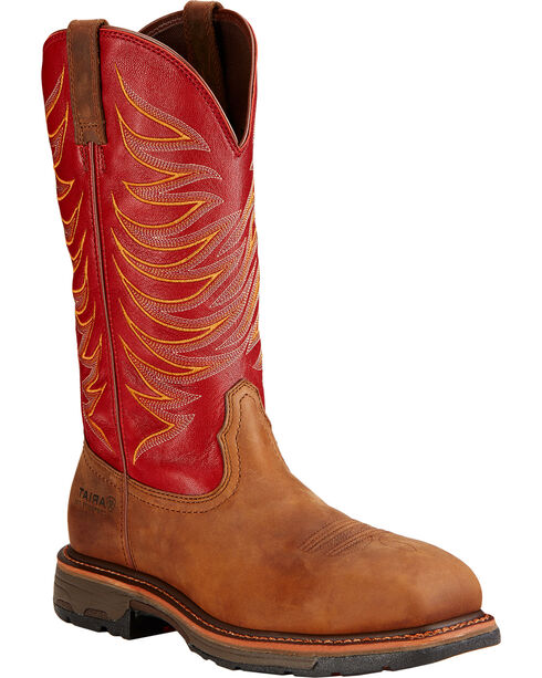 Ariat Workhog Wide Square Toe Tall Boots, Brown, hi-res