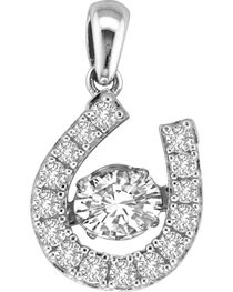 Kelly Herd Sterling Silver Dancing Diamond Dangle Pendant , , hi-res