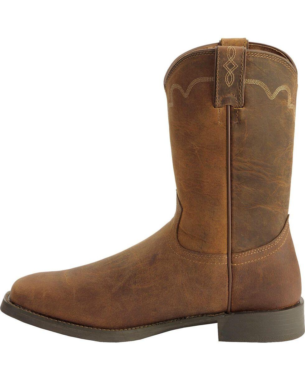 Justin Men's Naked Finish Square Toe Western Boots, Tan, hi-res