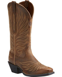 Ariat Women's Tan Round Up Phoenix Rodeo Boots - Square Toe , , hi-res