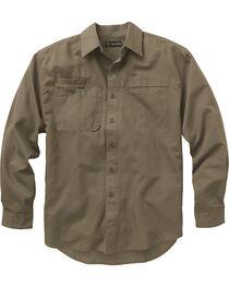 Dri Duck Men's Mason Work Shirt, Brown, hi-res