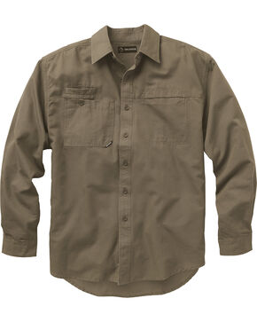 Dri Duck Men's Mason Work Shirt - Big and Tall, Brown, hi-res