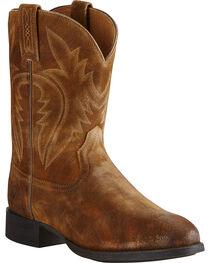 Ariat Men's Western Roper Suede Western Boots, , hi-res