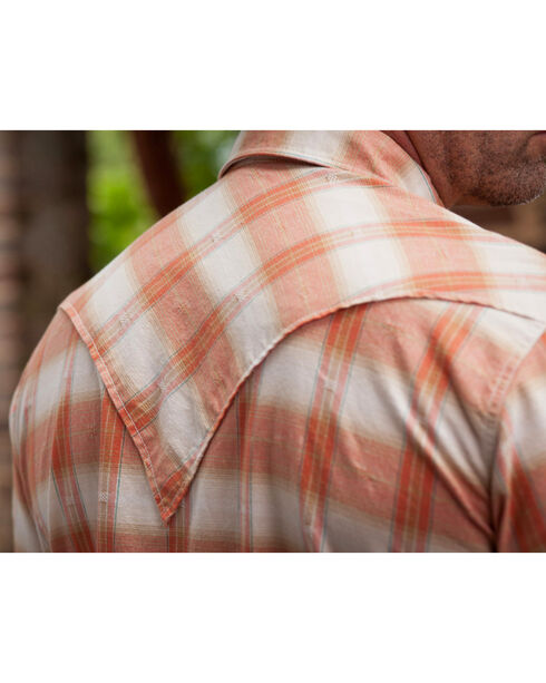 Ryan Michael Men's Ombre Paprika Plaid 9 Western Shirt, Chili, hi-res