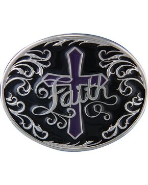 Montana Silversmiths Deep Faith Belt Buckle, Silver, hi-res