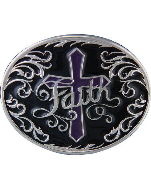 Montana Silversmiths Deep Faith Belt Buckle, Silver, hi-res