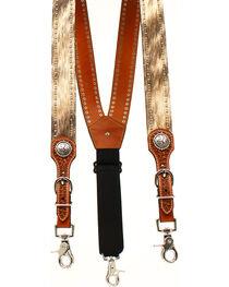 Nocona Men's Round Concho Suspenders , , hi-res