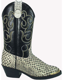 Smoky Mountain Toddler Boys' Laramie Python Print Western Boots - Round Toe, , hi-res
