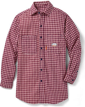 Rasco Men's Flame Resistance Long Sleeve Plaid Dress Shirt, Red, hi-res