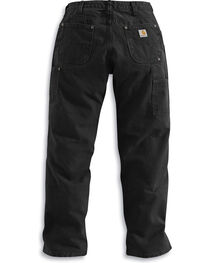 Carhartt Men's Double Front Washed Dungaree work Pants, , hi-res