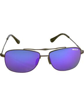 BEX Men's Draeklyn Lightweight Polarized Sunglasses, Black/brown, hi-res