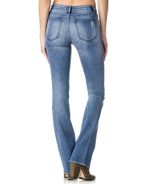 Miss Me Women's Indigo Destructed Jeans - Boot Cut , Indigo, hi-res