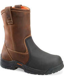 "Carolina Men's 10"" CT Metguard Wellington Work Boots, , hi-res"