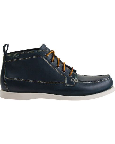 Eastland Men's Navy Seneca Camp Moc Chukka Boots, Navy, hi-res