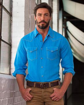 Ryan Michael Men's Whip Stitch Long Sleeve Shirt, Blue Jay, hi-res